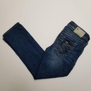 Silver Jeans Aiko Mid Denim Capris